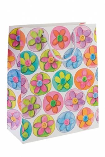 """Пакеты на любой повод Красный куб Пакет подарочный """"Цветочный сад"""""""