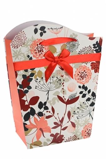 """Пакеты на любой повод Красный куб Подарочный пакет """"Осенние цветы"""""""