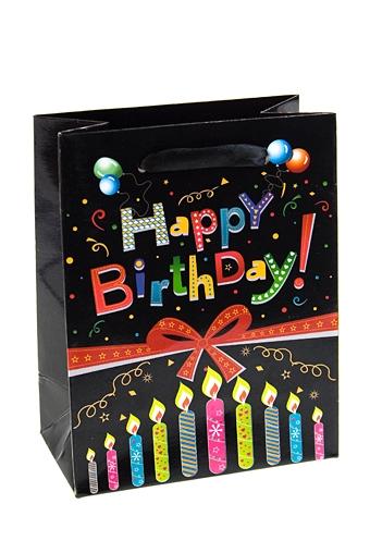 """Пакеты «С Днем рождения» Красный куб Пакет подарочный """"Ко дню рождения"""""""