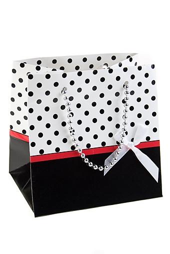 """Пакеты на любой повод Красный куб Пакет подарочный """"Гламур"""""""