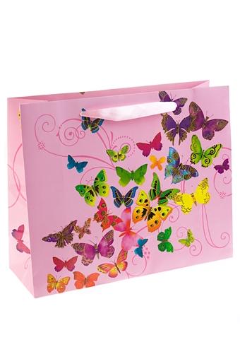 """Пакеты на любой повод Красный куб Пакет подарочный """"Танец бабочек"""""""