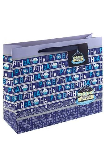 """Пакеты «С Днем рождения» Красный куб Пакет подарочный """"Искренние поздравления"""""""