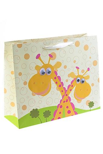"""Пакеты на любой повод Красный куб Пакет подарочный """"Жирафики"""""""