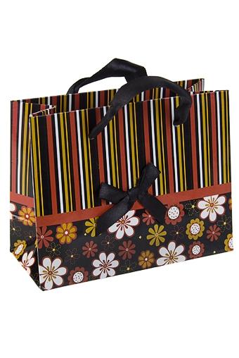 """Пакеты на любой повод Красный куб Пакет подарочный """"Черный шик"""""""