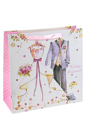 """Пакеты «С Днем свадьбы» Красный куб Пакет подарочный """"Свадебный наряд"""""""