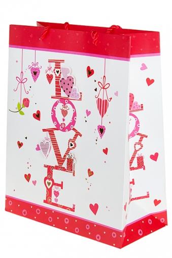 """Пакеты про Любовь Красный куб Пакет подарочный """"Моя любовь"""""""