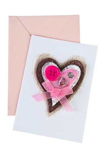"""Открытки ручной работы Красный куб Открытка подарочная """"Розовое сердце"""""""