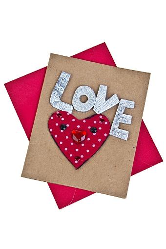 """Открытки ручной работы Красный куб Открытка подарочная """"Мечтательное сердце"""""""