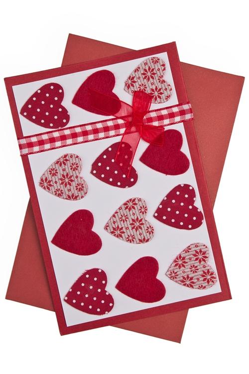 """Открытки ручной работы Красный куб Открытка подарочная """"Тысячи сердец"""""""