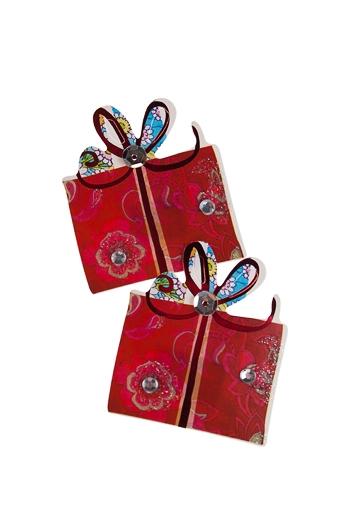 """Наклейки и аппликации Красный куб Набор наклеек """"Подарки"""""""