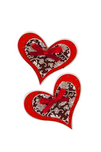 """Наклейки и аппликации Красный куб Набор наклеек """"Сердца"""""""