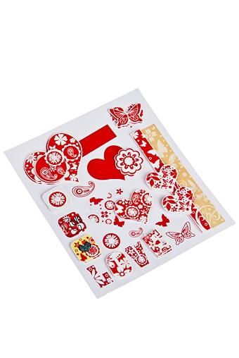 """Наклейки и аппликации Красный куб Набор наклеек """"Пылкие сердца"""""""