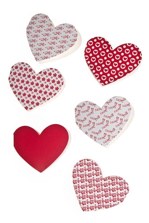"""Открытки про Любовь Красный куб Набор открыток подарочных """"Сердца"""""""