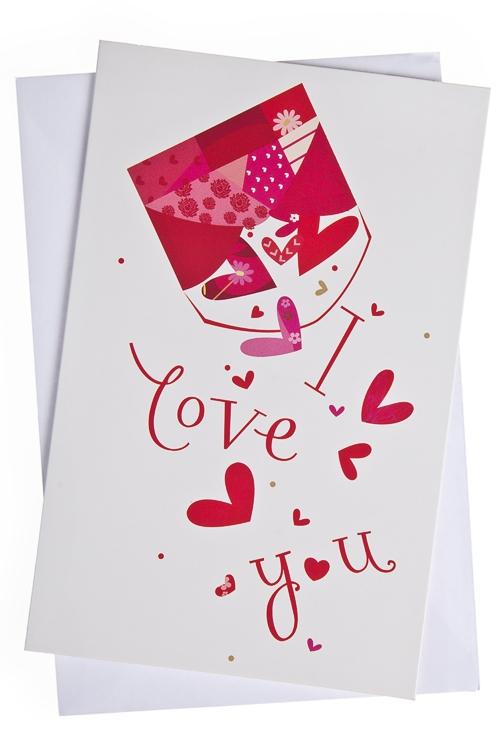 """Открытки про Любовь Красный куб Открытка подарочная """"Любовный конверт"""""""