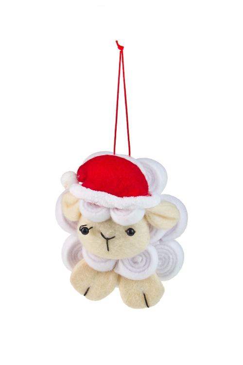 """Декоративные гирлянды и подвески Красный куб Украшение новогоднее """"Счастливая овечка"""""""