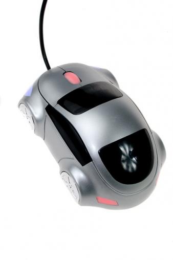 """Компьютерные мышки Красный куб Мышка оптическая """"Не просто машинка"""""""