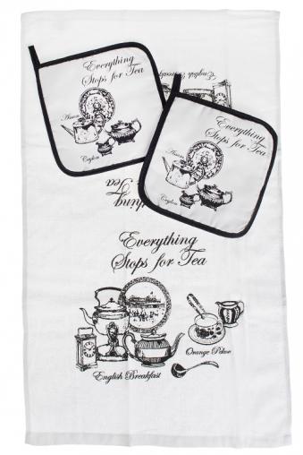"""Кухонный текстиль Красный куб Набор кух. текстиля """"Время пить чай"""""""