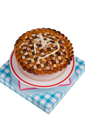 """Свечи для торта и вечеринок Красный куб Свеча """"Яблочный пирог"""""""