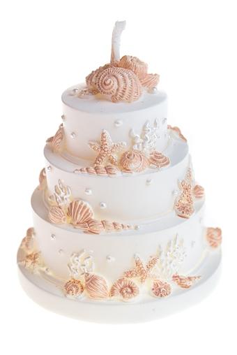 """Свечи для торта и вечеринок Красный куб Свеча """"Торт морские просторы"""""""