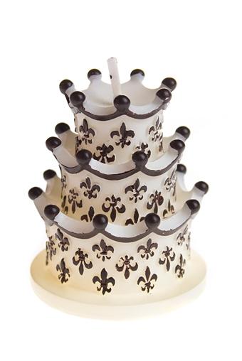 """Свечи для торта и вечеринок Красный куб Свеча """"Торт шоколад со сливками"""""""