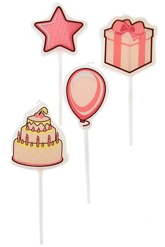 """Свечи для торта и вечеринок Красный куб Набор свечей для торта """"Веселый день рождения"""""""