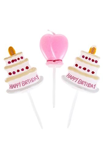 """Свечи для торта и вечеринок Красный куб Набор свечей для торта """"Шумный день рождения"""""""