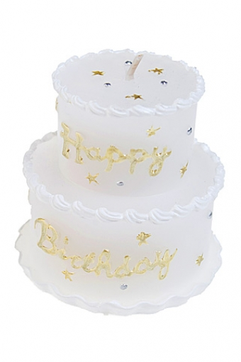 """Свечи для торта и вечеринок Красный куб Свеча """"Праздничный торт"""""""