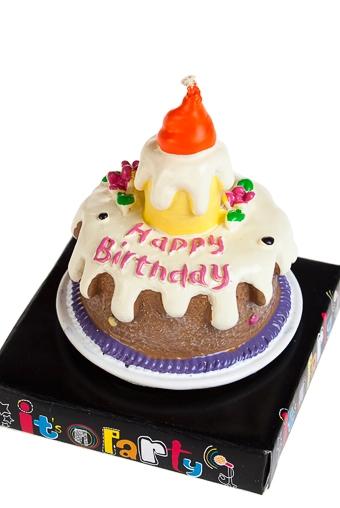 """Свечи для торта и вечеринок Красный куб Свеча """"Праздничный пирог"""""""