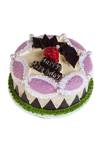 """Свечи для торта и вечеринок Красный куб Свеча """"Вкусняшка"""""""