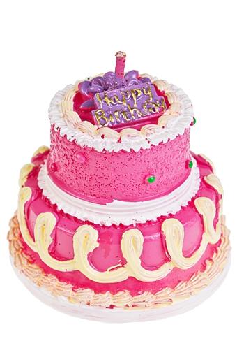 """Свечи для торта и вечеринок Красный куб Свеча """"Клубничный торт"""""""