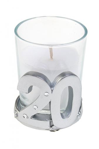 """Свечи для торта и вечеринок Красный куб Свеча """"20 - юбилей"""""""