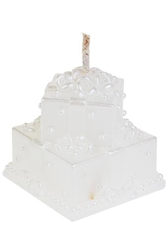 """Свечи на свадьбу Красный куб Свеча """"Торт для влюбленных"""""""