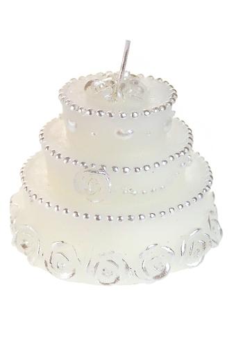 """Свечи для торта и вечеринок Красный куб Свеча """"Зефирный тортик"""""""