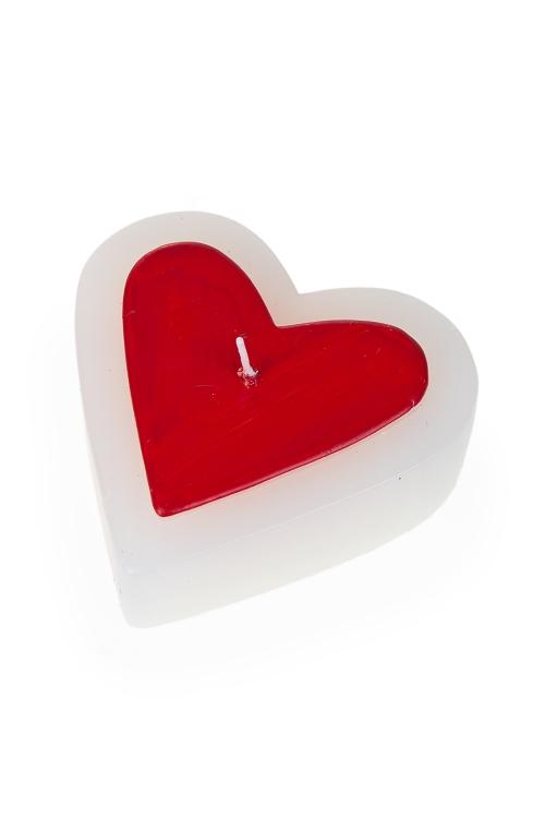 """Декоративные свечи Красный куб Свеча """"Сердце в сердце"""""""