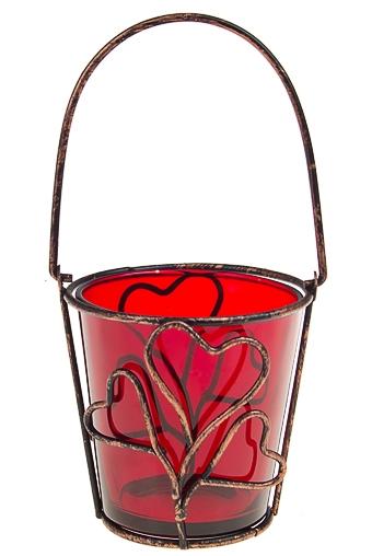 """Подсвечники Красный куб Подсвечник для свечи-таблетки """"Росток любви"""""""