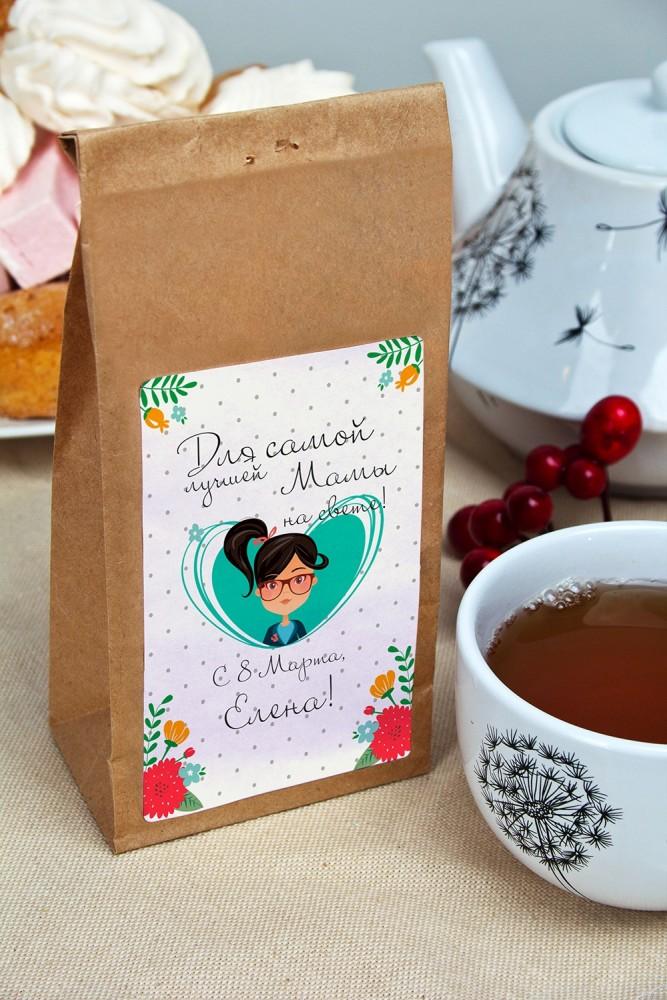 """Оригинальные и Необычные подарки Красный куб Сувенир """"Чай черный"""" """"Самой лучшей на свете"""""""
