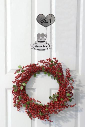 """Настенный декор Красный куб Табличка на дверь """"Влюбленные"""""""