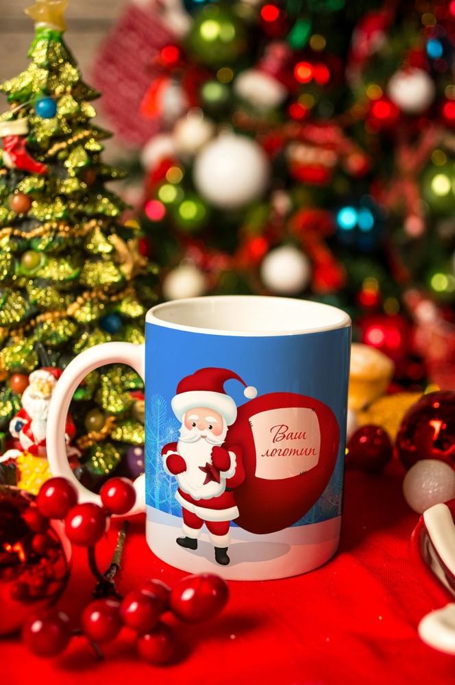 """Кружки и бокалы Красный куб Кружка с вашим текстом """"Дед Мороз"""""""