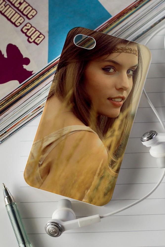 """Подарки маме Красный куб Чехол для iphone 4/4S с Вашим фото """"Фото"""""""