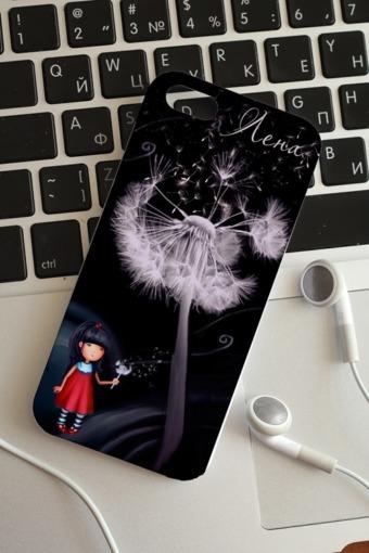 """Подарки детям Красный куб Чехол для iphone 5 с вашим текстом """"Цветы"""""""