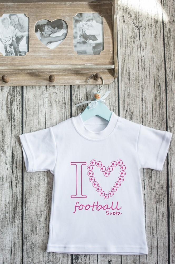 """Подарки детям Красный куб Футболка детская с вашим текстом """"Любитель Футбола"""""""