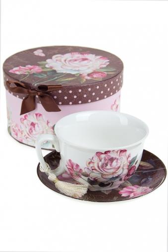 """Чайные пары Красный куб Чайная пара """"Розы в шоколаде"""""""