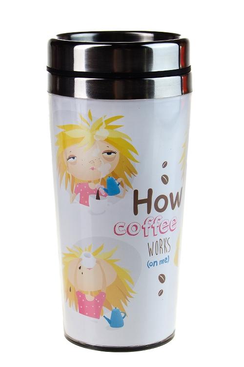 """Термокружки и стаканы для чая/кофе Красный куб Термокружка с крышкой """"Эффект кофе"""""""