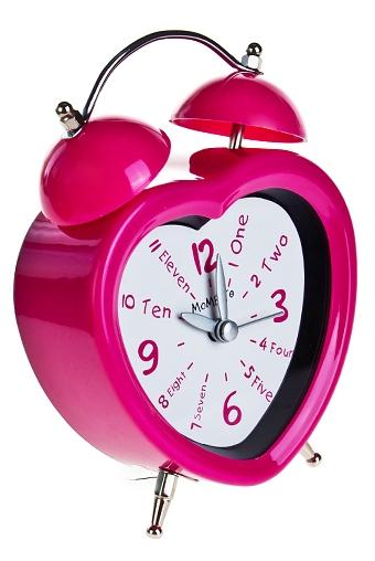 "Часы Настольные Красный куб Часы настольные ""Розовое сердце"""