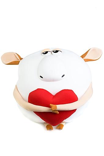 "Релаксанты Красный куб Игрушка мягкая ""Влюбленная овца"""