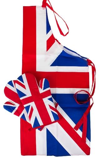 """Кухонный текстиль Красный куб Набор кух. текстиля """"Британский флаг"""""""