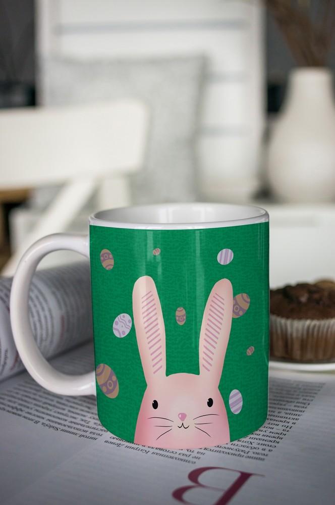"""Оригинальные и Необычные подарки Красный куб Кружка с вашим текстом """"Пасхальный кролик"""""""