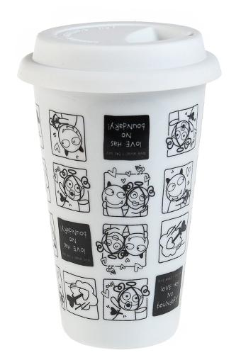 """Термокружки и стаканы для чая/кофе Красный куб Стакан для чая/кофе """"Любовь без границ - 2"""""""