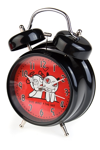 """Часы Настольные Красный куб Часы настольные """"Ангелочек и дьяволенок"""""""