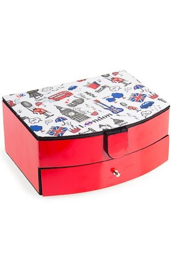 """Шкатулки для украшений Красный куб Шкатулка для ювелирных украшений """"Лондон"""""""